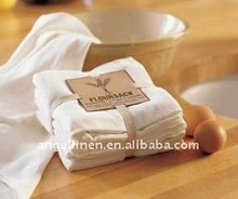 plain white cotton flour sack tea towel