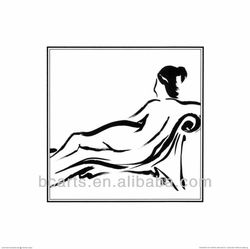 Pure hand-painted high quality oil painting nude beautiful sexy woman
