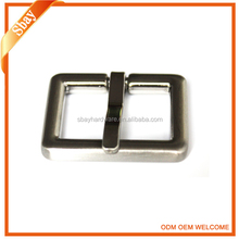 Fashion silver square rhinestone custom metal belt buckle