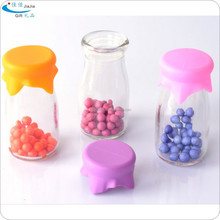 silicone drinking cup cover/silicone yogurt cover/silicone bottle cap