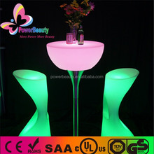 remote control stainless steel base Led Lighting ,Multicolor LED plastic high top cocktail tables for party,event,KTV,nightclub
