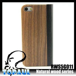 Newest style customize flip wood phone cover case for Samsung Galaxy S4