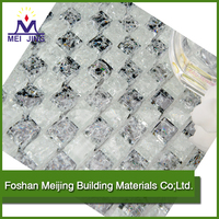 High quality glass mosaic ceramic tile plastic roof tile for decorative wall