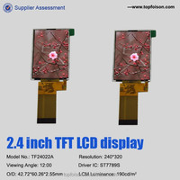2.4 inch qvga tft lcd display with 240*320 and RGB interface and 12o'clock TF24022A