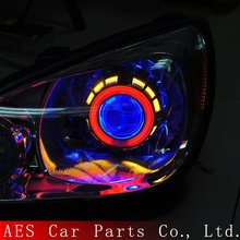 Hot Sale Bi-xenon projector lens with dual angel eyes,car accessories for auto headlight
