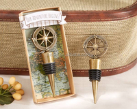 Unique Travel and Adventure Theme wedding door gift of Compass Bottle Stopper Wedding gift favors
