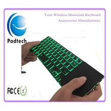 Aluminum Metalic Rill Mini led Backlit Keyboard Green