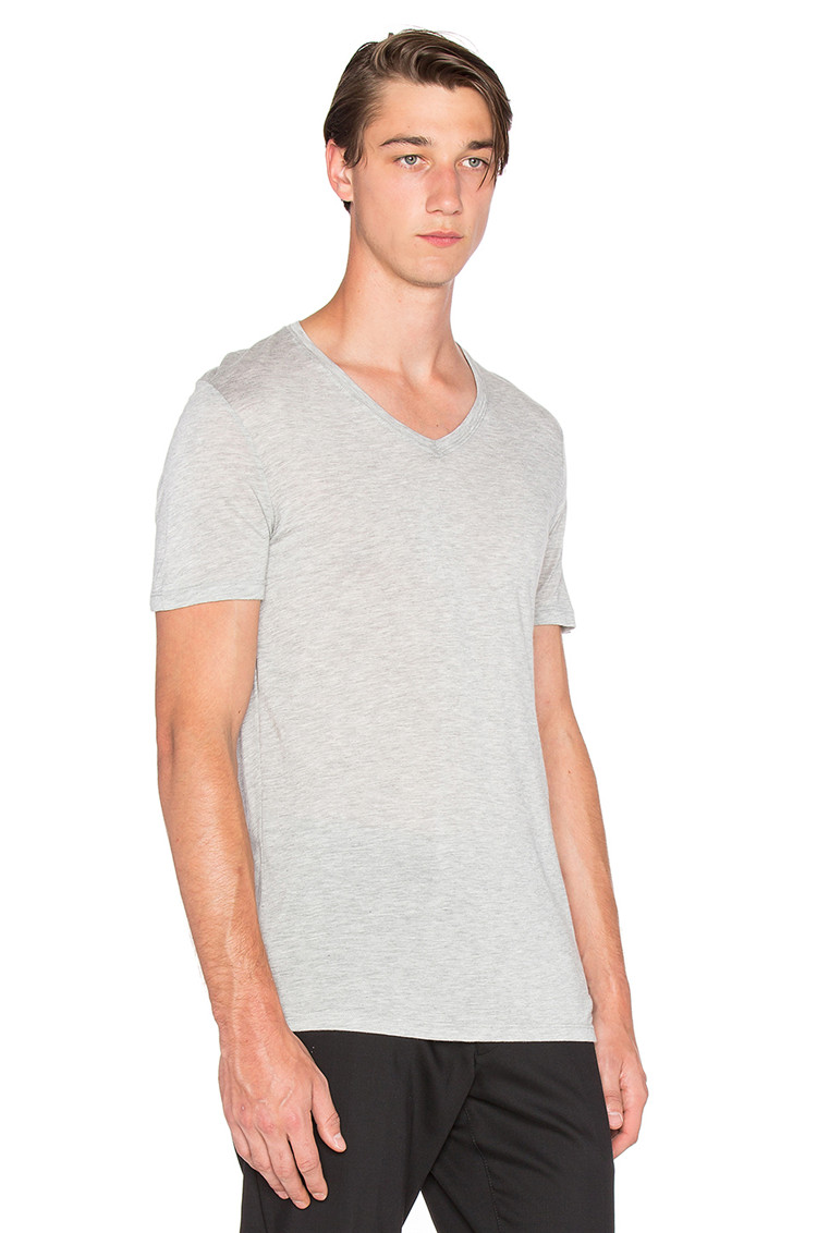 Men fashion modal and cotton blank v neck t shirts mens for Modal t shirts mens