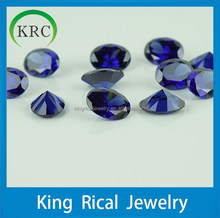 Customize oval synthetic tanzanite CZ loose stones