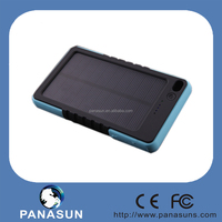 8000mah solar portable mobile phone charger with lithum battery and solar panel