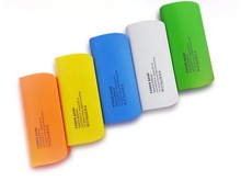 portable rohs power bank 4400mah two batteries with led torch light