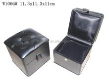 Atractiva de cuero superficie de la joyería de madera caja de regalo para el reloj W1066W