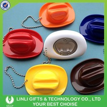 Mini colorful cowboy keyring with opener