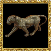 Life Size Bronze Animal Statues Leopard Panther Statue for Sale