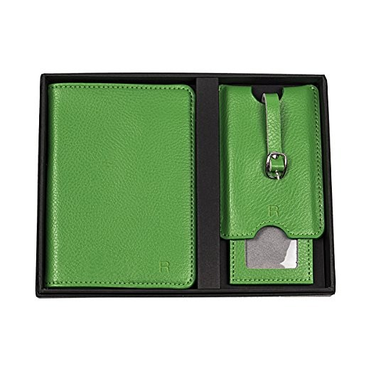 Personalized Leather Passport Holder And Luggage Tag Set (4).jpg