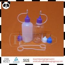 Hot seal! 50ml plastic e liquid bottles e cig needle cap bottle made in China