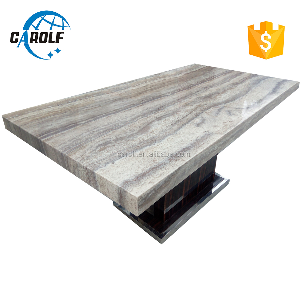 8 sitzer modell marmor esstisch mit edelstahl <span class=keywords><strong>basse</strong></span>