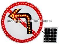 Aluminium solar powered LED traffic sign