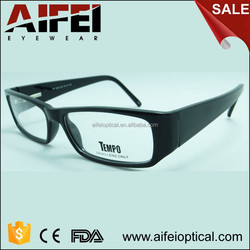 Classic black CP injection cheap optical frame with metal spring hinge