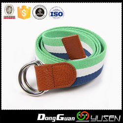 Factory Direct Sale Two Colors Green White Blue Striped Belt