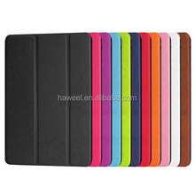 Custer Texture Horizontal Flip Smart Leather Case with 3-folding Holder for iPad Mini 4(Black)