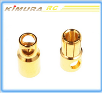 Good quality 10pairs 5.5mm Gold Bullet Banana Connector plug Thick Gold Plated For RC Battery Free Shipping Toy