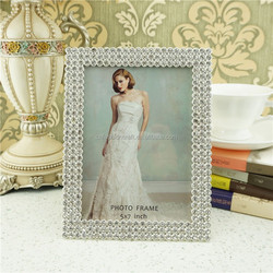 plated crystal decorative picture frame, metal and acrylic photo frame, photo frame in metal finish