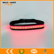 Flashing LED USB Reflective Rechargeable Waist Belt wholesale hot sell