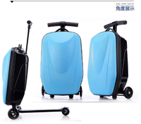 PC/EVA luggage 21'new dseign scooter luggage with 3 wheels
