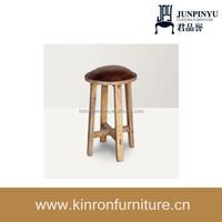 Classic Solid Wooden Legs Light Walnut Stool
