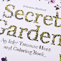 2015 Popular English version Secret Garden Coloring Book, children and adult hand paint color book