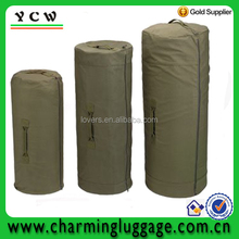 green zipper military duffle bag