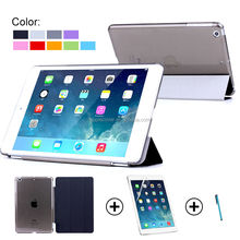 2015 New coming Smart Cover for iPad Mini 4 with PC cover , Leather Smart Cover for iPad Mini