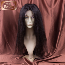 Straight Peruvian Virgin Hair Remy Human Hair Full Lace Wig Natural Color Thick End Full Cuticle Peruvian Hair Lace Front Wig