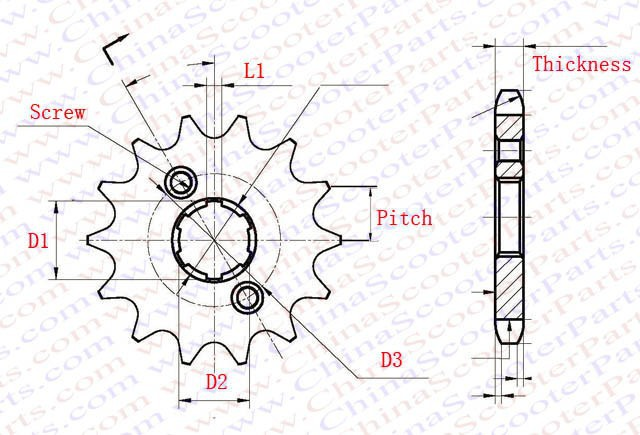 11 Tooth 520 20Mm Sprocket For Taotao Sunl Jcl Kazuma