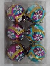 10cm christmas ball set in pvc box mixed pattern christmas ball environmental material christmas nativity set