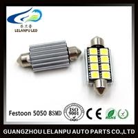 6500K White LED Festoon 8SMD 5050 canbus Car Dome Map Light Interior Bulb Lamp 12v auto led car light