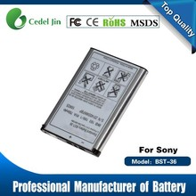cell phone accessory , BST-36 3.6V battery for Sony W200i / Z310 / Z310a / Z310i / Z500 / Z550a / Z550c