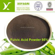 High Grade 95% Fulvic Acid Powder Organic Fertilizer 100% Solubility