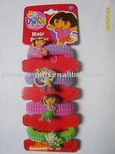 fashion PVC hair charm/ barrette/ hair ring/ hair rope