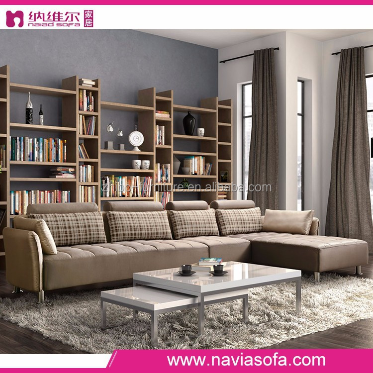 Alibaba Foshan Modern Luxury Living Room Furniture Cheap L Shape New Model Di