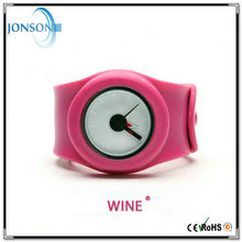 Best quality promotional price color changing dial slap silicone watch wrist