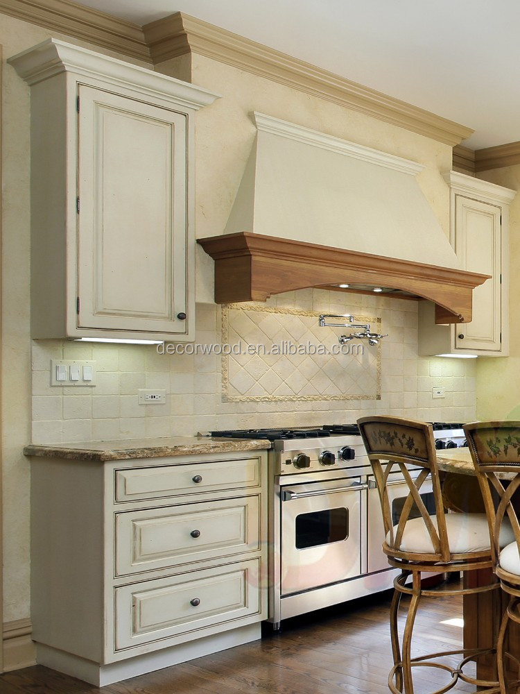 China classic kitchen complete white solid wood kitchen for Complete kitchen cupboards