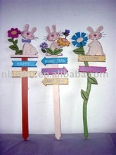 fashion easter wooden yard decoration