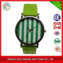 R0718 PayPal accept leather watch,quartz movement silicone wristband watch