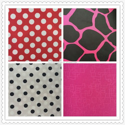 100% polyester Oxford fabric 600D printed pu coated /pvc coated bag raw material