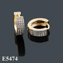 Bijoux Dubai Joyeria Fashion Jewelry, Cubic Zircon Gold Silver Hoop Earring