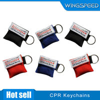 HIgh quality CPR Mask with One-Way Valve CPR Face Shields and CPR Keyring