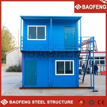 Hotel office prefab shipping container house wheels sale