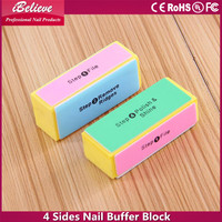 Professional ibelieve nail art tools: 4 sides nail buffer block 4 steps angel foot file